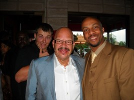 Christian Frazier and Tom Joyner