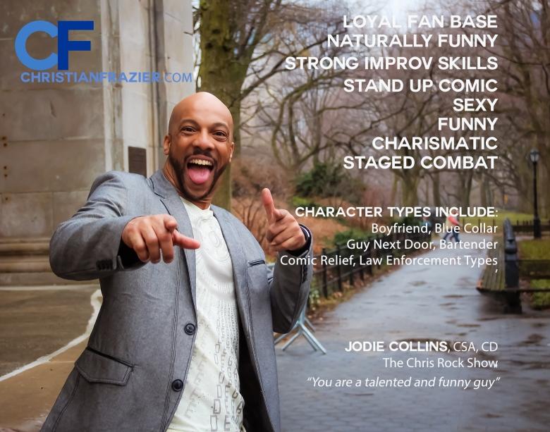 Christian Frazier Comedy One Sheet