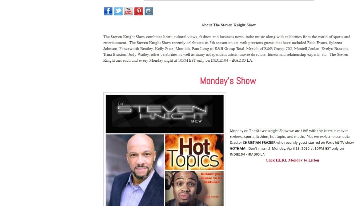 Steven Knight Show