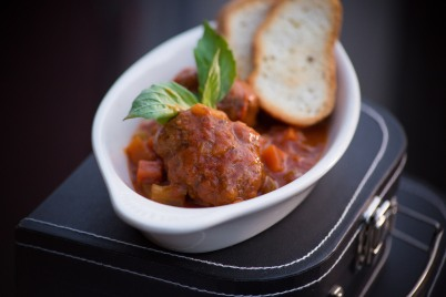 Meatball Appetizer available at Settepani in Harlem. It's a Italian Mediterranean Themed Restaurant located in Central Harlem