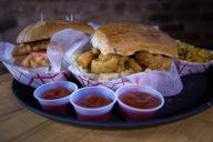 Shaking Crab Catfish and Shrimp Po Boy Sandwiches